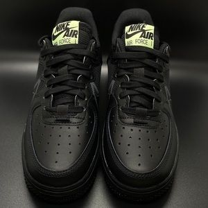 Nike Air Force 1 React Youth 'Triple Black'